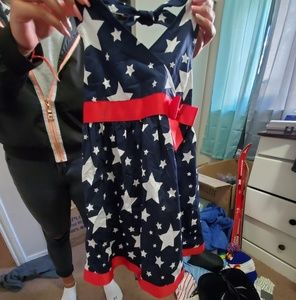 Kids size 6 Red, White and blue dress